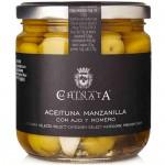 Olives Manzanilla avec Ail & Romarin - La Chinata