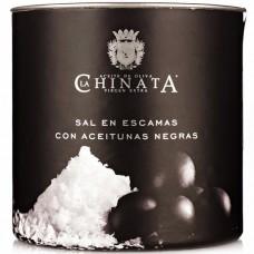 Sel Marin en Paillettes 'Olives Noires' - La Chinata (165 g)