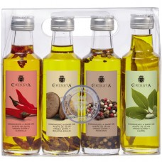 Huile d'Olive Vierge Extra '4 Condiments' - La Chinata (4 x 100 ml)