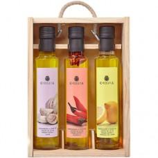 Huile d'Olive Vierge Extra '3 Condiments' - La Chinata (3 x 250 ml)